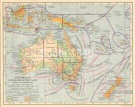 Australia And Islands Of The Pacific Political And Economic Map