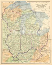 Central States Eastern Section Political And Economic Map