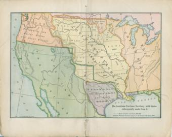 The Louisiana Purchase Territory With States Subsequently Made From It.