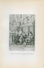 The Queen Embraces Grammont Before The Court Of France