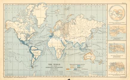The World Map Showing Geographical Explorations
