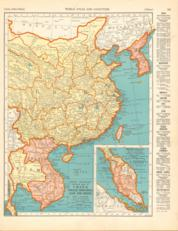 China And French Indochina And Siam And Chosen